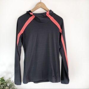 GAP BODY FIT• grey & pink hoodie